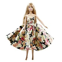 Peregrine Spring Floral Prom Silk Dress for 11.5 inches Dolls - $8.81