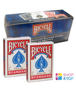 12 DECKS BICYCLE RIDER BACK NO FACE RED MAGIC TRICKS CARDS SEALED BOX US... - $57.37
