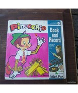 Vintage Pinocchio Read and Hear Book w/Record 1946 - $20.00