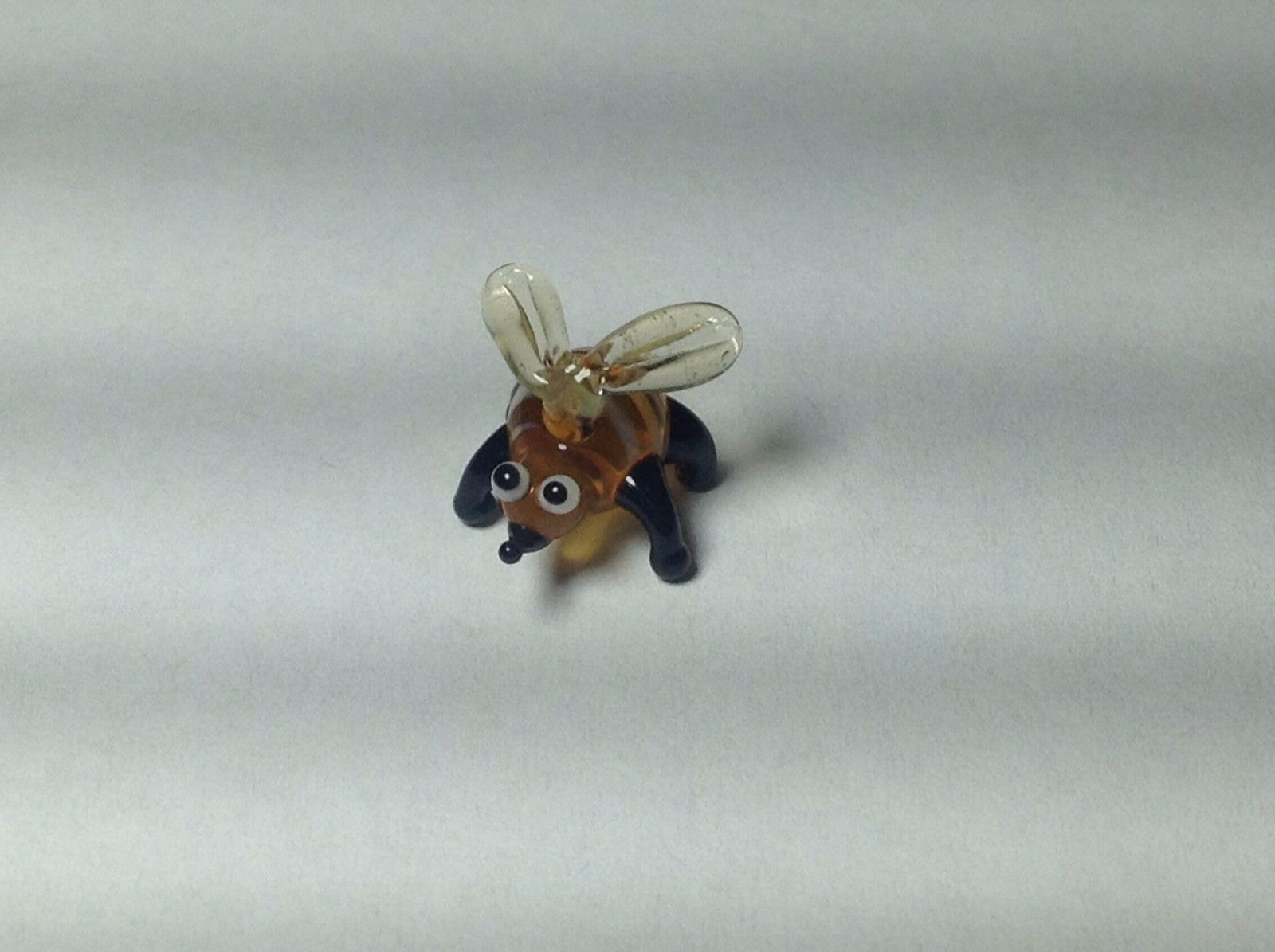 Miniature Glass tiny bumble or honey bee Handmade Blown Glass Made USA