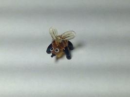 Miniature Glass tiny bumble or honey bee Handmade Blown Glass Made USA - $29.69