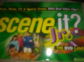 Scene It Jr Trivia DVD Board Game 2007 Mattel Family Fun Night Ages 8+ - $7.91