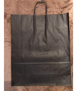 6 19x16 Uline Bags Black Paper Handle Shopping Gift Merchandise Retail Bags - $3.99