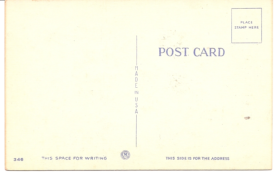 """MC Risque AS Dudley Humor Linen Post Card """"Hello Folks!!"""" Unused & Uncirculated!"""