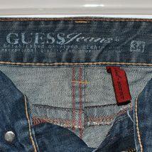 Guess Jeans Women's Daredevil Boot Cut Blue Denim Stretch Size 34 image 4