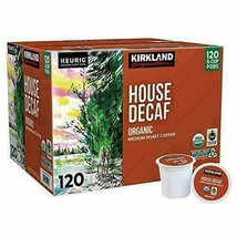 Kirkland Signature House Decaf Coffee, Medium, Keurig K-Cup Pods, 120 ct Fresh