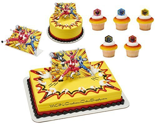 Power Rangers Licensed Cake Topper By Decopac 24 Cupcake Ring Combo