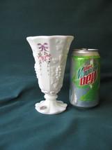Westmoreland Paneled Grape Vase w/Hp Roses & Bows - $11.00