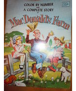 McDonald's Farm Color By Number Book Never Used - $12.99
