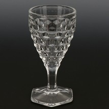 Fostoria American Crystal Goblet  2 1/2 OZ Wine Hexagonal Foot