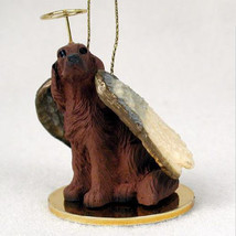 IRISH SETTER ANGEL DOG CHRISTMAS ORNAMENT HOLIDAY Figurine Statue Memorial - $14.99