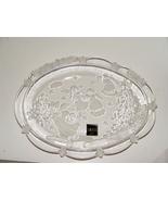 Mikasa Crystal Christmas  Platter / Dish Holiday Angels - $6.99