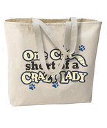 One Cat Short of a Crazy Lady New Oversize Tote Bag, A Favorite For Feline Lover - $18.99
