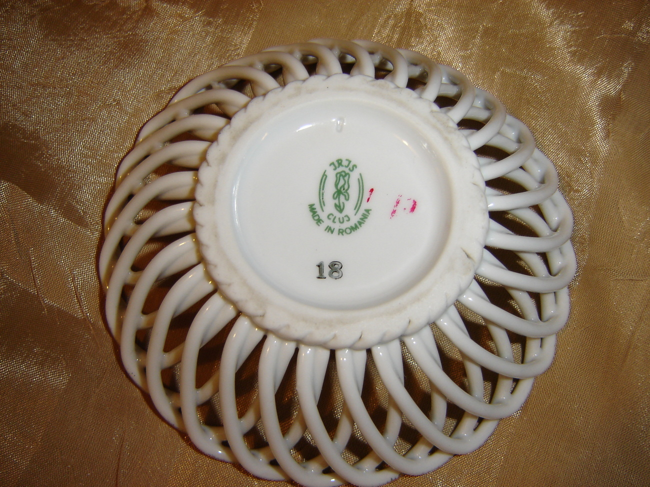 Handmade Weave Lace Porcelain small plate