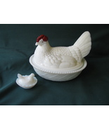"""WG 7"""" Hen /Chicken on Nest Covered Dish & Toy Chicken Dish/Salt Dip - $12.00"""