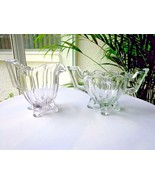 Colonial Pattern Clear Cream & Sugar Bowl Set Jefferson Glass 1907/ 1933 - $13.86