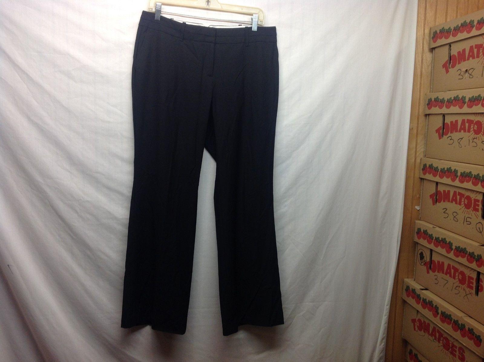 Ann Taylor LOFT Petites Julie Black Business Style Dress Pants Sz 10P