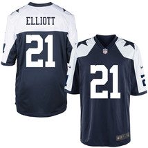 Men's Dallas Cowboys #21 Ezekiel Elliott Navy Alternate Game Jersey  - $54.99