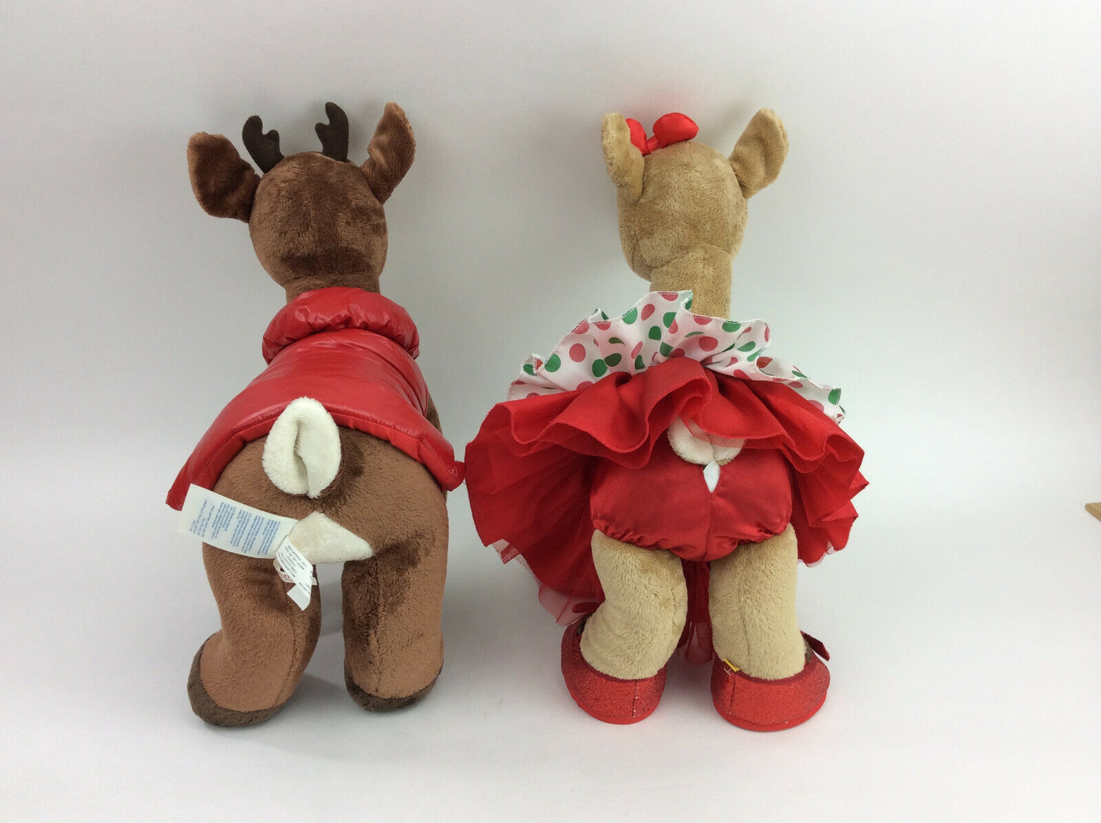 Build A Bear Rudolph Clarice Red Nosed Reindeer Set Outfit Plush Stuffed Animal