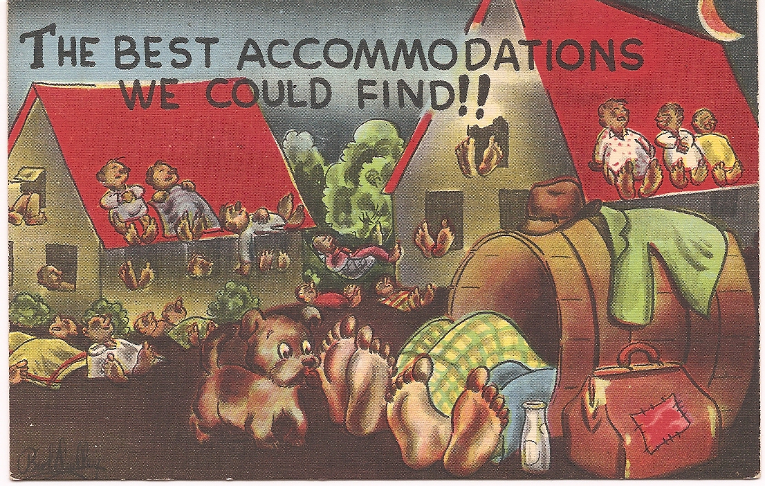 "MC Artist Signed Bud Dudley Risque Humor PC ""Best Accommodations"" Uncirculated!"