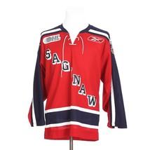 RARE Saginaw Spirit OHL Hockey Retro Red Blue White Adult Small Sports J... - €34,58 EUR