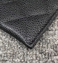 BNIB AUTH CHANEL 2019 BLACK QUILTED CAVIAR CARD HOLDER WALLET  image 5