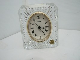Vintage Staiger Clock Germany Quartz Movement Crystal Case From France - $14.84