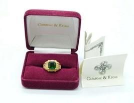 Camrose and Kross JBK Jacqueline Kennedy Green Clear Rhinestone Ring Size 6.25 - $98.99