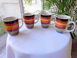 Set of 4 Colorful Small Coffee Cups Rondo Phillippe Richard - $37.61