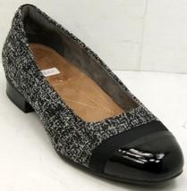 Clarks Artisan Keesha Rosa Pumps Gray/Black Women's Shoes Sz 8 EE w/Original box - $47.02