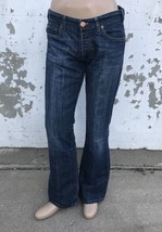 Armani Blue Jeans 007 Indigo Series Denim Pants Button Fly Relaxed Fit G... - $1.324,09 MXN