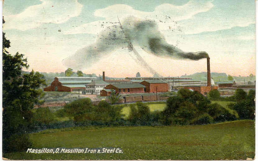 Iron and Steel Company Massilion Ohio Vintage 1909 Post Card