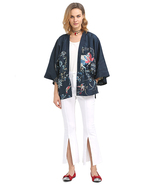 Selena Celebrity Boho Loose Fit Oriental Floral Bird Print Kimono Wrap J... - $19.99