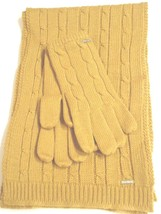 Nine West Colorado Scarf & Glove Set,Gold - $27.46