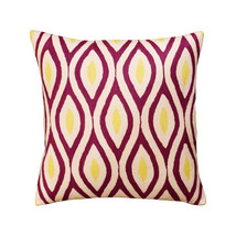 Contemporary Seamless Amaranth Purple Yellow Decorative Pillow Cover Woo... - €48,14 EUR