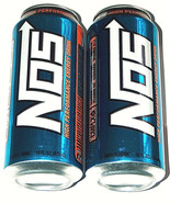 NEW 2 Lot 16oz NOS Energy High Performance Enhanced Blue Drink Full Cans... - $18.79