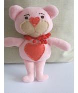 Teddy Bear Rag Doll Pio /handmade doll teddy bear/decorative dolls/sewn ... - $18.00