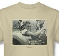James Dean T-shirt Porsche Pic beige retro vintage graphic cotton tee DEA472 image 1