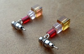 Christmas Presents Earrings on Surgical Steel Posts and Backs Hand Made ... - $14.99