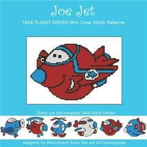 Take Flight Joe Jet cross stitch chart Pinoy Stitch - $4.50