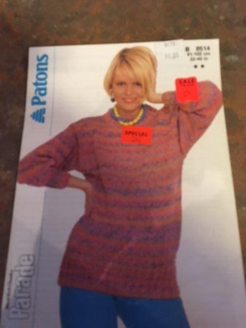 New Vtg Patons Knitting Pattern Womens And 22 Similar Items