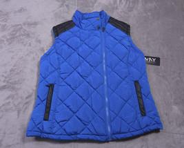 ANDREW MARC NEW YORK Mens Full Zipped Vest Size 1X  Black Blue NWT  - $76.20