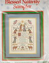 Blessed Nativity Christmas Cross Stitch Kit Sampler Dimensions Luke 2:7 Avery - $18.37