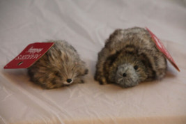 (Lot of 2) Hedgehog Furry Christmas Ornaments Mom & Baby New Maker's Hol... - $18.49