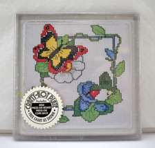 Butterfly & Bird Crafty Hot Plate Trivet Cross Stitch Kit MCG Textiles-N... - $9.45