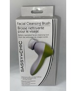 Sassy Chic Facial Cleansing Brush, Batter Operated,  BRAND NEW Green FRE... - $4.49