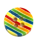 Coogi Multi-Color Striped Plastic Main Button or Sleeve Replacement Butt... - $4.90