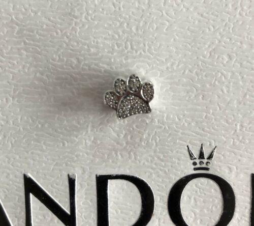 Genuine Authentic Pandora  Paw Print Charm,791714CZ, Comes In Pandora Gift Box