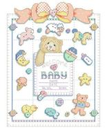 Buttons and Bows birth record cross stitch chart Kooler Design Studio - $12.60