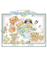 Welcome baby birth record cross stitch chart Kooler Design Studio - $11.70